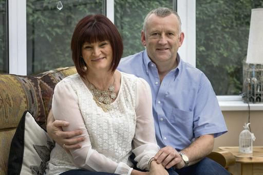 Constant support: Catherine and Liam Howe at their home in Kilkenny. Dylan Vaughan