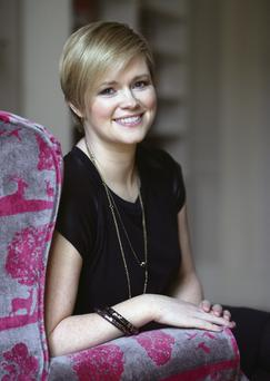 Hitting the write note: Cecelia Ahern at home in Malahide.
