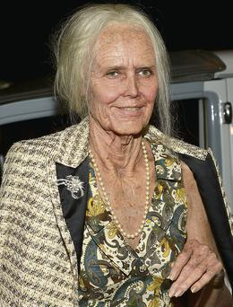 Heidi Klum shows off her Halloween costume, which transformed her into an elderly lady