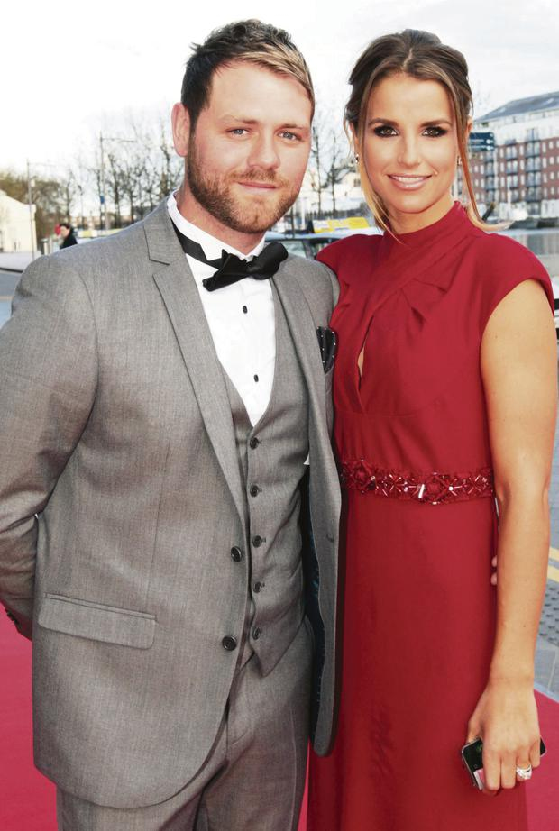 Vogue with her husband Brian McFadden