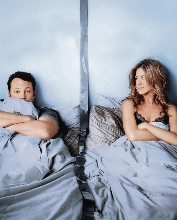 Passed the point of no return: Vince Vaughn and Jennifer Aniston in 'The Break-up'. Having arguments does not mean your marriage or relationship is in trouble, say experts