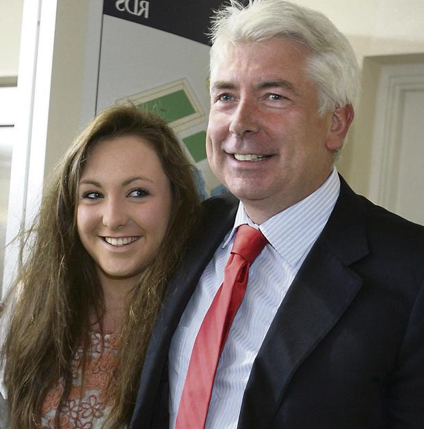 Daddy's girl: Labour Junior Minister Alex White and his daughter Maeve