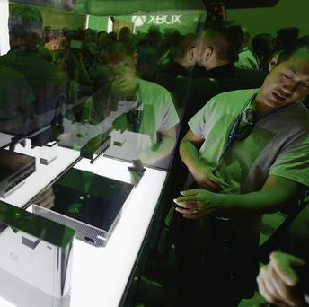 An Xbox One on display during the Electronics Expo 2013 in LA in June.