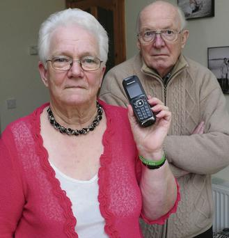 Call for change: Nancy and Terry White are upset to be losing their phone allowance