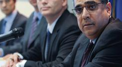 The Troika overlords, from right to left, Ajai Chopra, Istvan Szekely and Klaus Masuch