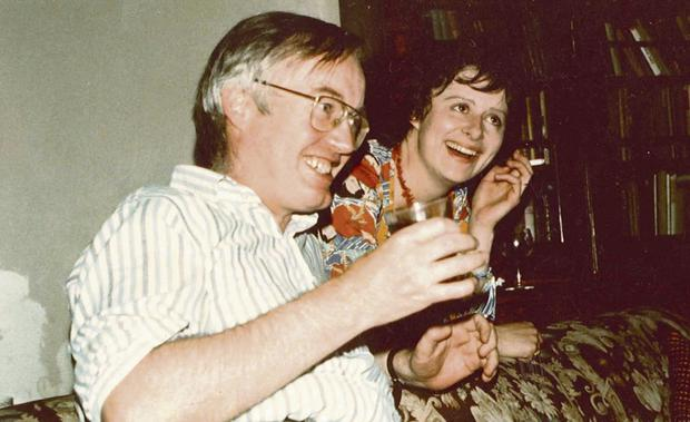 BEFORE THE FALLS: Top, Richard and Mary enjoying a drink together in 1979