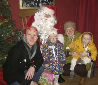 Grotto fabulous: Sarah and Tom Kelly and their children Emma and Liam