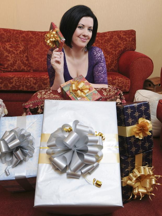 Deirdre Reynolds is hoping to find some treats under her tree this year. Photo by Barry Cronin
