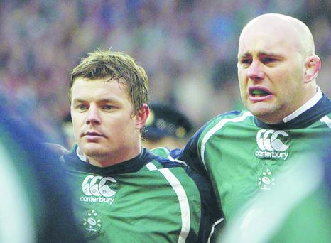 Brian O'Driscoll (left) and John Hayes