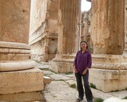 Amid the Baalbek ruins in Lebanon.