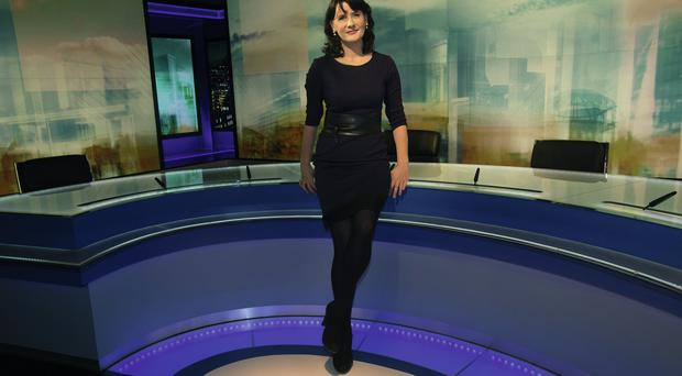 Presenter Keelin Shanley on the set of RTE's Morning Edition