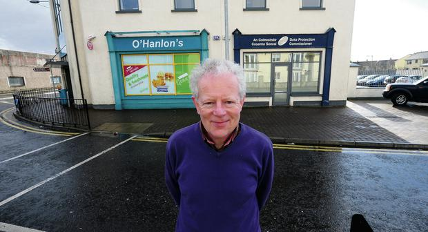 Talking shop: Billy Hawkes, Data Protection Commissioner, outside his offices in Portarlington, Co Laois. James Flynn/APX