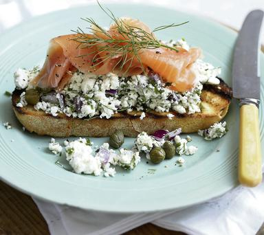 Herby Tartare Homemade Ricotta with Smoked Salmon