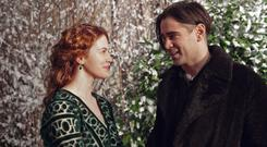 Colin Farrell and Jessica Brown-Findlay in 'A New York Winter's Tale'.