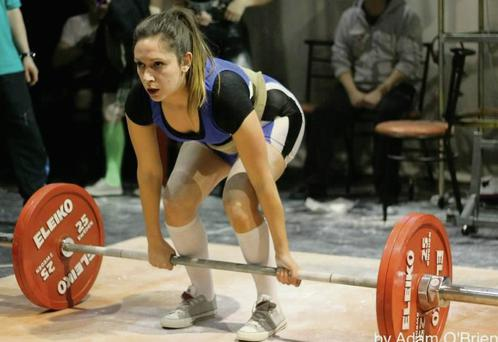 Powerlifter, Emma Scott in competition mode.