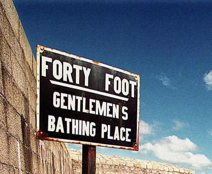 The infamous sign in Sandycove.