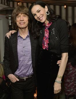 L'Wren Scott at one of her fashion launches with Mick Jagger just last November