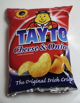Cheese and Onion Tayto crisps