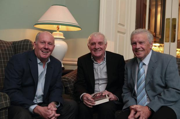 The RTE panel: Eamon Dunphy, Liam Brady and John Giles