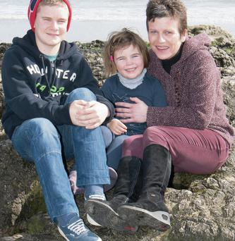 Family values: Audrey Hallahan with Eimear and Oisín. Photo: John Power