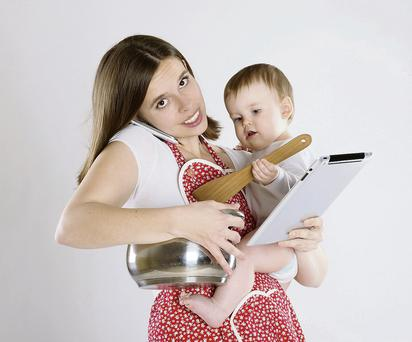 Being a working mum is a juggling act