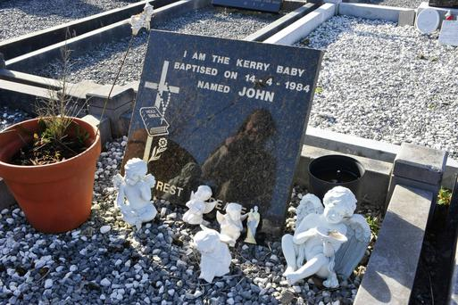'John', The Kerry Baby, in Cahersiveen Cemetary in Kerry