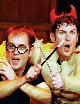 Daniel Clarkson and Jefferson Turner, the writers and performers of Potted Potter