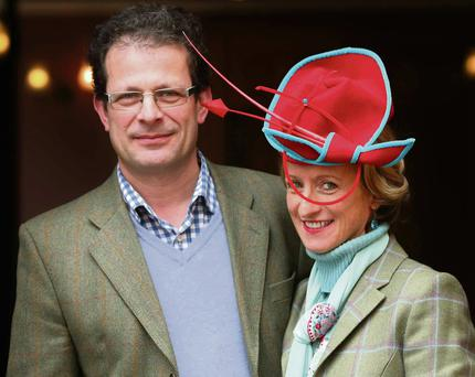 Milliner Isabel Marinot and her husband Pascal