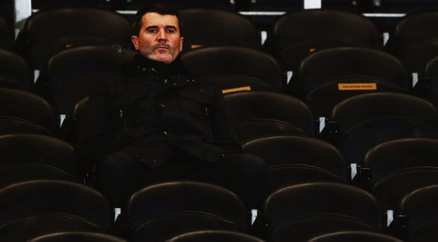 Roy Keane in the manager's dugout: Photo: John Peters/Manchester Utd via Getty Images