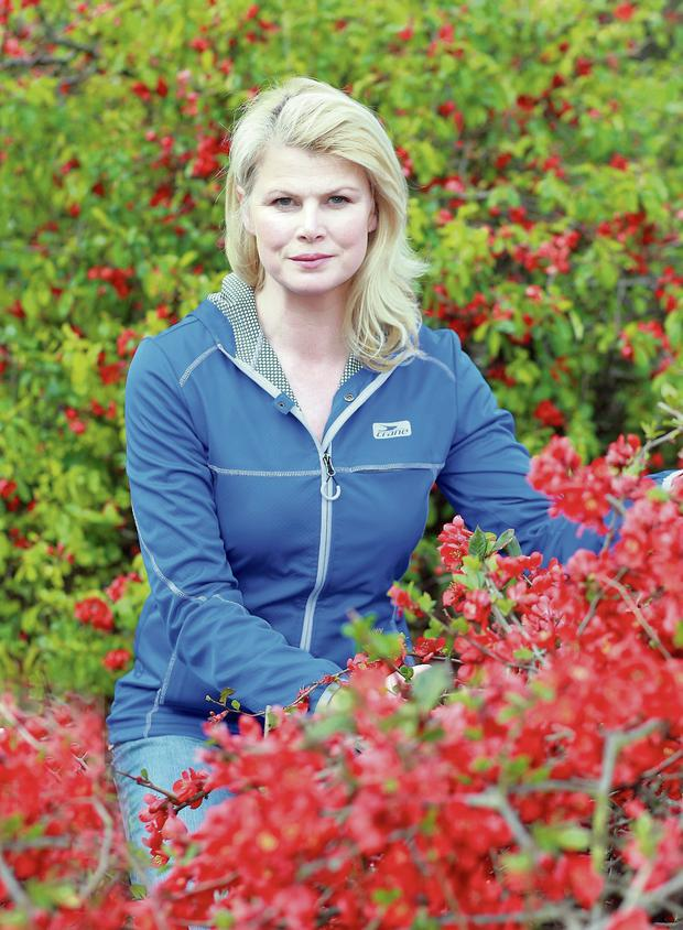 Marie Staunton with some chaenomeles
