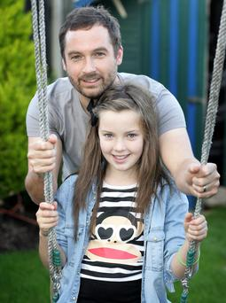 Making the switch: Father-of-two Keith Walsh with his 11-year-old daughter Anna. Pic Ronan Lang