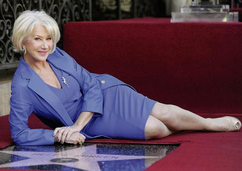 Helen Mirren is presented as a sexual goddess despite being 65, but she is a notable exception