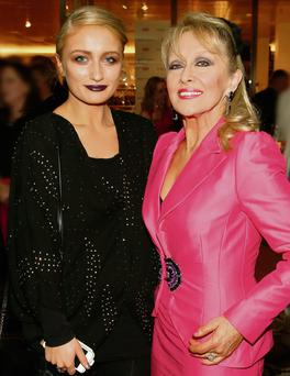 SHOWBIZ: Twink with her daughter Chloe at a party for the 'Sunday Independent's' 'LIFE' magazine. Photo: Kieran Harnett