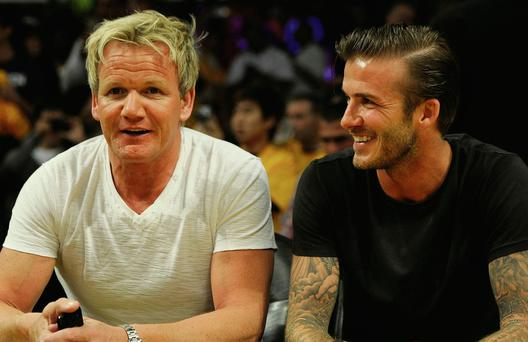 Close pals: Gordon Ramsay and David Beckham and Ramsay