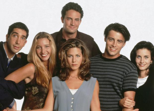 Cult comedy: David Schwimmer, Lisa Kudrow, Matthew Perry, Jennifer Aniston, Matt LeBlanc and Courteney Cox in 'Friends'