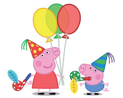 Peppa pig and her little brother George