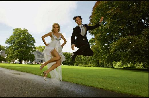 Niamh O'Connor and Padraic Moyles on their wedding day
