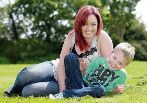 Vicki Casserly and her son, James