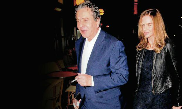 Drama: Charles Saatchi and Trinny Woodall. Photo: Getty Images.