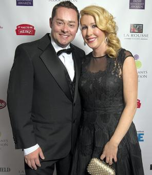An invitation to dine for: Neven Maguire, winner of the Best Chef Award, with his wife Amelda at the Irish Restaurant Awards at the DoubleTree by Hilton in Dublin.
