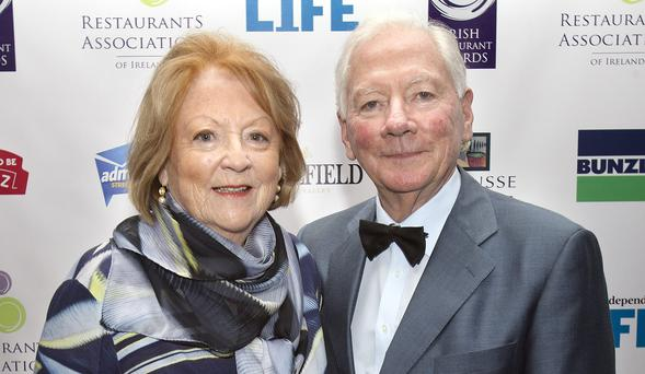 Kathleen Watkins and Gay Byrne Photo: Tony Gavin.