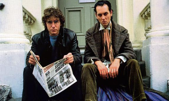A scene from the cult classic, Withnail and I, starring Paul McGann and Richard E Grant.