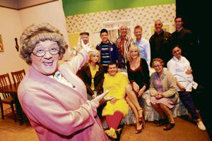 Brendan O Carroll and the cast