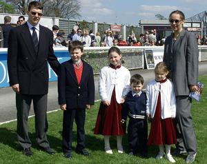 Aidan and Ann Marie with the children in 2001.