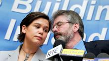 Mary Lou  McDonald with party leader Gerry Adams