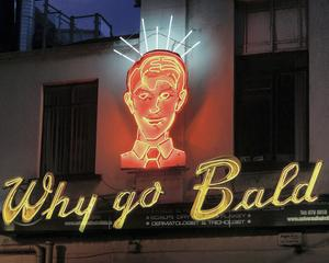 Why go Bald sign