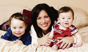 Lucy Kennedy with her children Jack and Holly