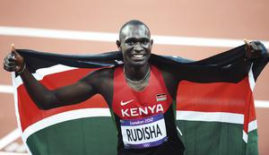 David Rudisha after breaking the 800m world record at the London Olympics last year