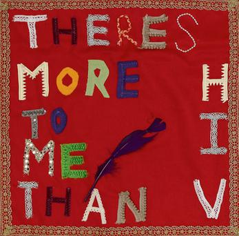 A square from The Quilt of Hope by Open Heart House to positively represent women living with HIV in Ireland