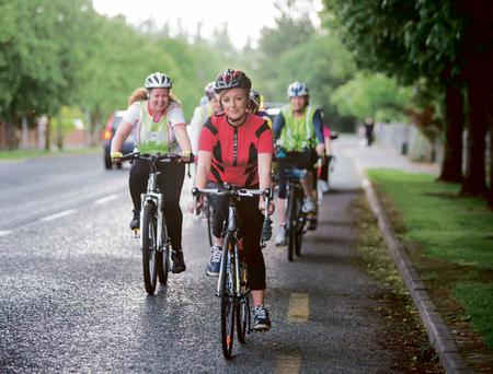 Cyclist Samantha McCarthy pictured in Ennis, Co Clare this week. Photograph by Eamon Ward